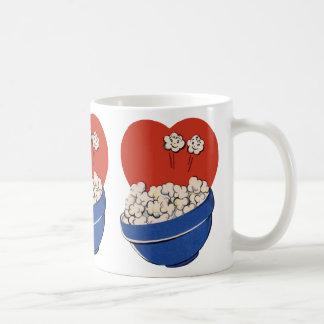 Retro Cute Humor, Bowl of Popcorn for the Movies! Coffee Mug
