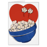 Retro Cute Humor, Bowl of Popcorn for the Movies! Greeting Card