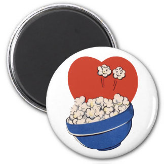 Retro Cute Humor, Bowl of Popcorn for the Movies! Magnet