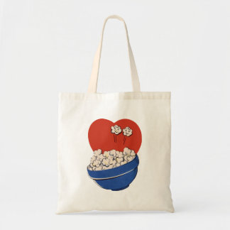 Retro Cute Humor, Bowl of Popcorn for the Movies! Tote Bag