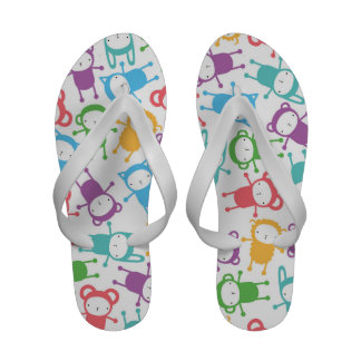 Retro Cute Kids Children Bear Pattern Sandals