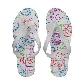 Retro Cute Kids Children Pattern Sandals
