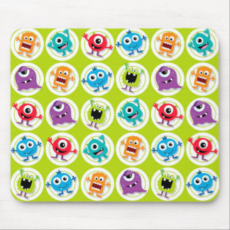 Retro Cute Monster Mouse Pads