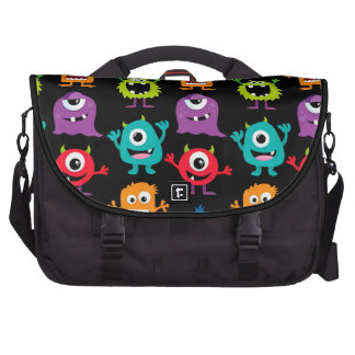 Retro Cute Monster Pattern Bag For Laptop