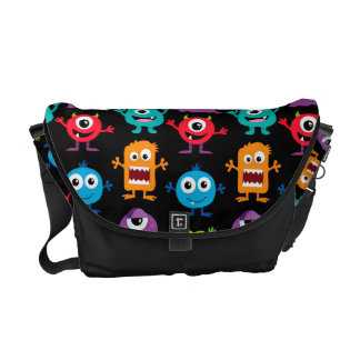 Retro Cute Monster Pattern Courier Bags