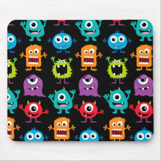 Retro Cute Monster Pattern Mouse Pad