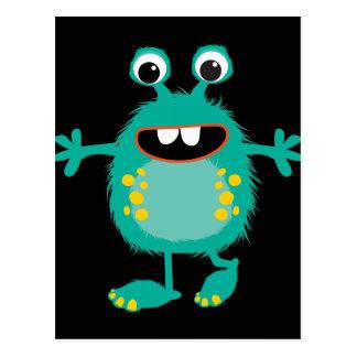 Retro Cute Monster Postcard