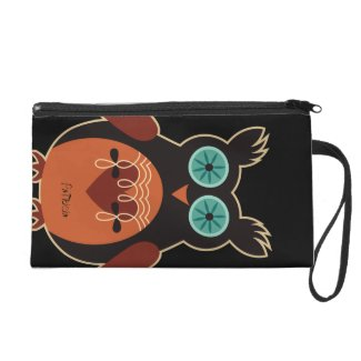 Retro Cute Owl Bagettes Bag Wristlet Clutches