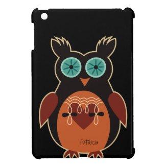Retro Cute Owl iPad Case Cover For The iPad Mini