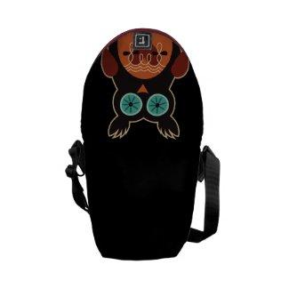 Retro Cute Owl Messenger Bag