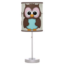 Retro Cute Owl Table Lamp