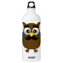 SIGG Traveller Water Bottle (0.6L) with Cartoon Owls with Mustaches design