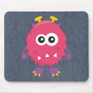Retro Cute Pink Monster Mousepad