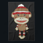 """Retro Cute Sock Monkey Hand Towel<br><div class=""""desc"""">This is such a cute sock monkey. It makes the perfect gift for any occasion.</div>"""