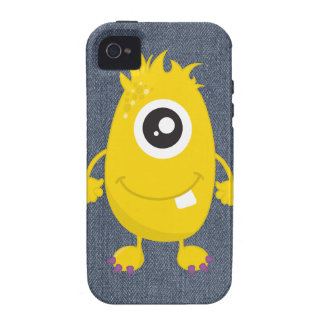 Retro Cute Yellow Monster Vibe iPhone 4 Cover