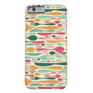 Retro Cutlery Pattern Background Barely There iPhone 6 Case