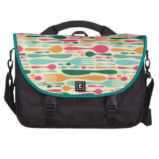 Retro Cutlery Pattern Background Bag For Laptop