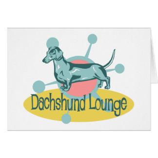Retro Dachshund Lounge Greeting Card