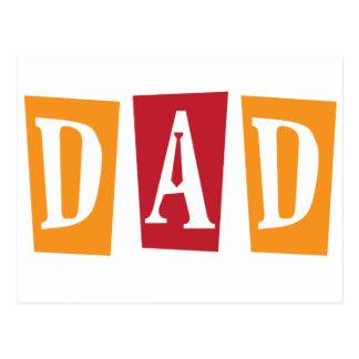 Retro Dad Postcard