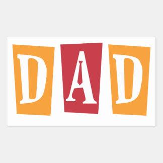 Retro Dad Rectangular Sticker