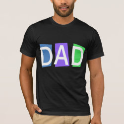 Men's Basic American Apparel T-Shirt with Retro Dad design