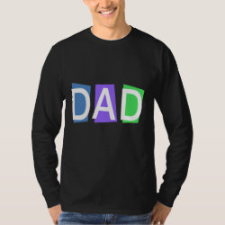 Men's Basic Long Sleeve T-Shirt with Retro Dad design