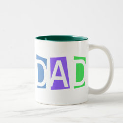 Two-Tone Mug with Retro Dad design