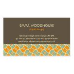 Retro!Dahlia Brown, Orange and Aqua Pack Of Standard Business Cards