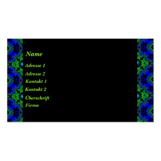 Retro daisies in green blue black and asterisks business card templates