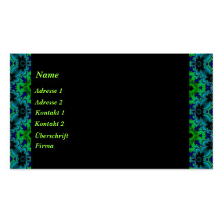 Retro daisies in green blue black business cards