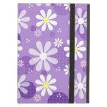 Retro Daisies Purple Gingham Circles iPad Cases