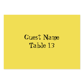 Retro Daisies Wedding Table Number card Large Business Card