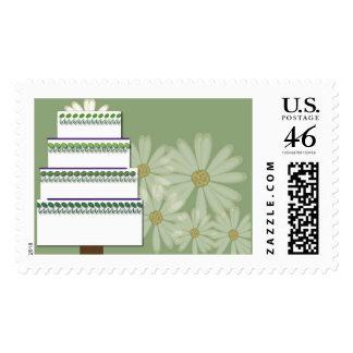 Retro Daisy Cake Stamps