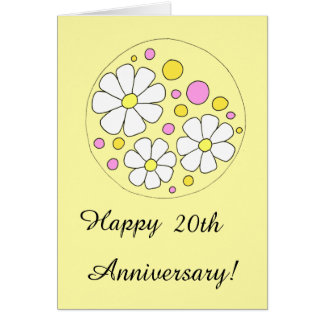 20th wedding anniversary flower happy 20th anniversary gifts on zazzle 1061
