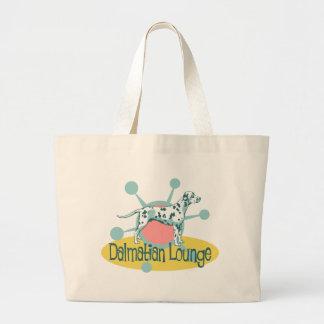 Retro Dalmatian Lounge Large Tote Bag