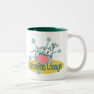 Retro Dalmatian Lounge Two-Tone Coffee Mug
