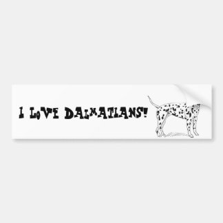 Retro Dalmatian Sketch Looking Aside Car Bumper Sticker