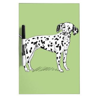 Retro Dalmatian Sketch Looking Aside Dry Erase Whiteboards