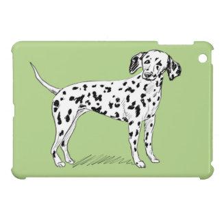 Retro Dalmatian Sketch Looking Aside iPad Mini Case