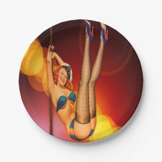 Retro Dance Entertainer Party Paper Plates