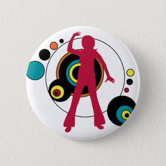 Retro Dancing Girl button