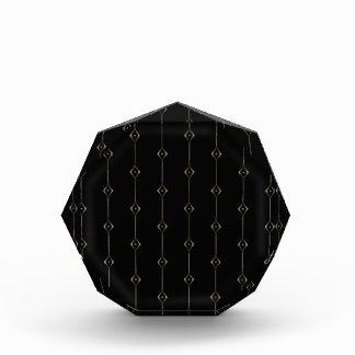 Retro Dark Gold Lounge pattern Acrylic Award