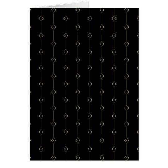 Retro Dark Gold Lounge pattern Card