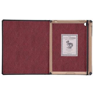 Retro Dark Red Leather Grunge Custom iPad Cover