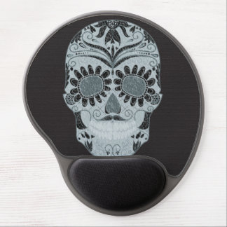 Retro Day of the Dead Sugar Skull Gel Mouse Pad