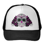 Retro Day of the Dead Sugar Skull Trucker Hat