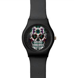 Retro Day of the Dead Sugar Skull Watch