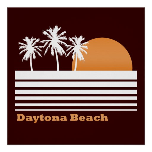 Retro Daytona Beach Poster