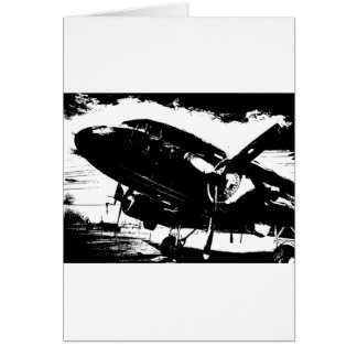 Retro DC3 Airplane Prop Plane Aviation Jet Design Card