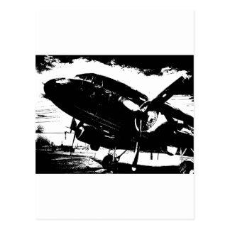 Retro DC3 Airplane Prop Plane Aviation Jet Design Postcard